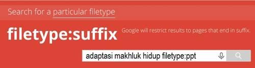 Cerdas mencari informasi di google dengan menembak langsung file format yang digunakan
