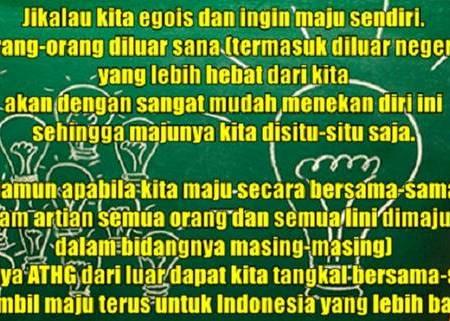 Kebiasaan buruk orang Indonesia karena tidak ada kebersamaan