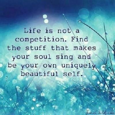 Hidup tidak berkisah tentang kompetisi dan persaingan saja