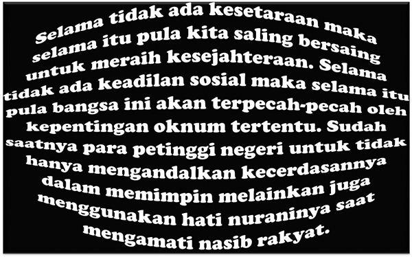 Solusi Dari Masalah Utama Di Indonesia Adalah Keadilan Sosial – Pemerataan Kesejahteraan Adalah Solusi Jangka Pendek Sekaligus Jangka Panjang