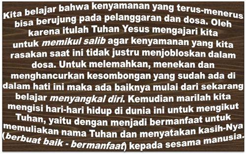 Perbedaan Allah Di Taman Eden dan Yesus Kristus, Pelajaran dari Eden, Manusia Harus Menderita Untuk Menghilangkan Kejahatan Dari Dalam Hatinya