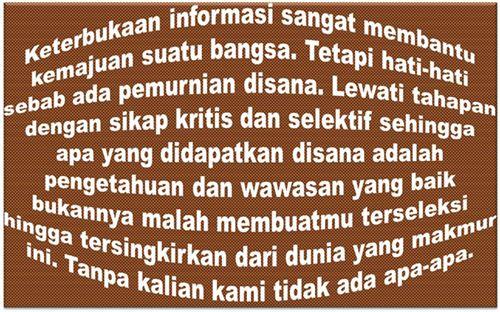 Terimakasih Buat Internet, Media Sosial dan Google Telah Menjadi Otak Bagi Semua Orang Indonesia