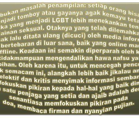 Dampak Negatif Menjadi LGBT (Lesbian, Gay, Biseksual, Transeksual) – Kamu Bisa Jadi Tomboy dan Agak Kemayu Tapi Jangan Jadi LGBT