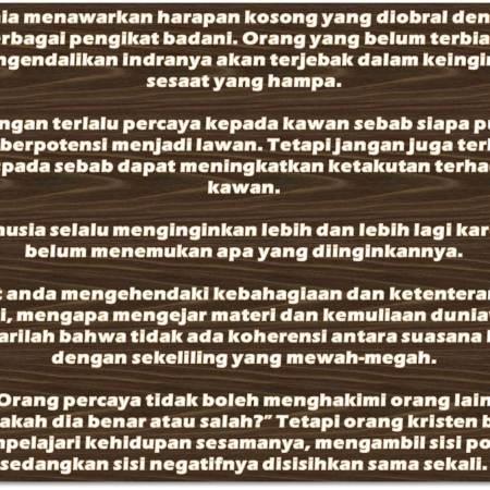 Kata-Kata Bijak Motivasi Kehidupan Dalam Berbagai Bidang (Bagian V)