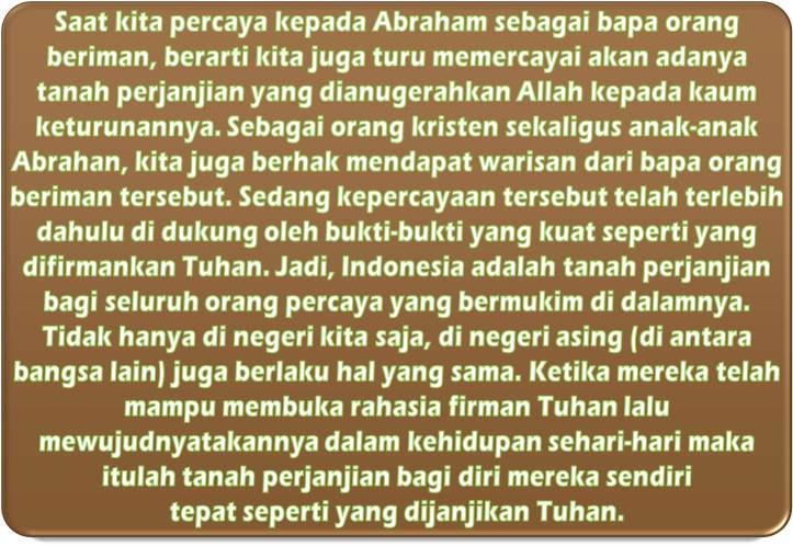 Alasan Tanah Perjanjian Adalah Indonesia, Berlimpah Susu & Madunya
