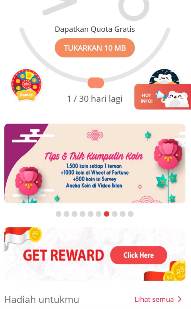 Cara Dapat Bonus Kuota Internet, Telepon, SMS dari Koin dengan Aplikasi Roli