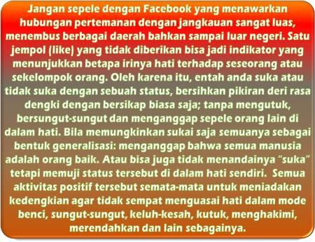 Cara Facebook Menghilangkan Iri Hati