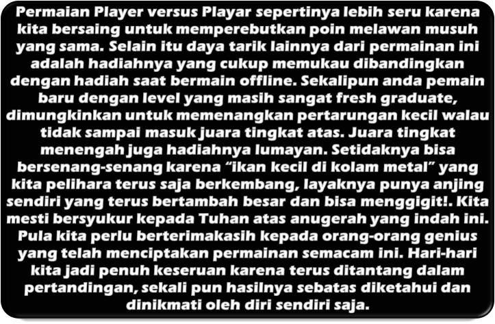 Budaya Game PvP (Permainan Online Antar Pengguna)