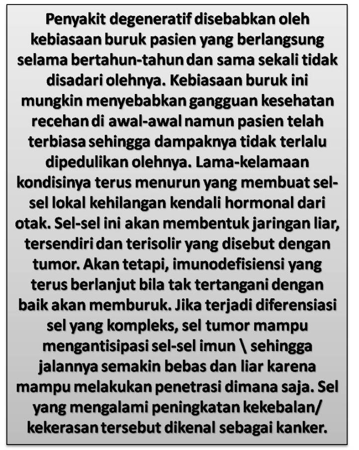 Imunodefisiensi Pasien Tumor (Kanker) Otak Dan Jenis Penyakit Degeneratif Lainnya