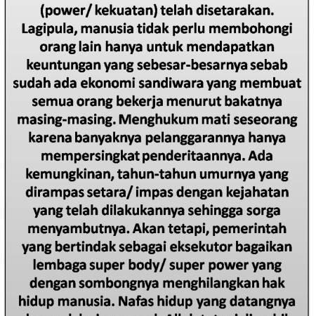 Faktor Penyebab Hukuman Mati Ilegal Di Indonesia