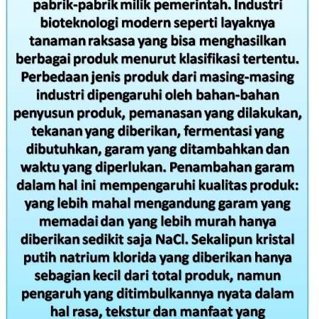 Produk Konsumsi Sintetis Bukan Plastik Tetapi Disusun Dari Bahan Kimia)