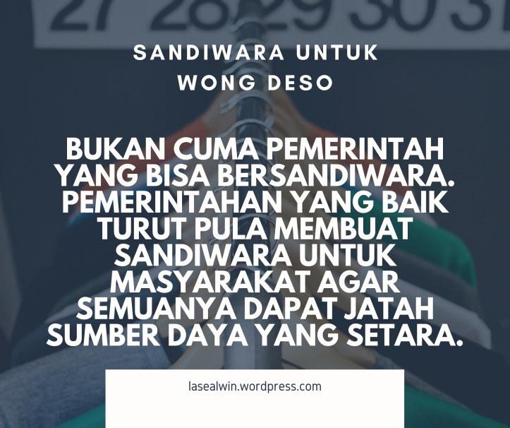 Sandiwara Untuk Masyarakat Luas Wong Deso