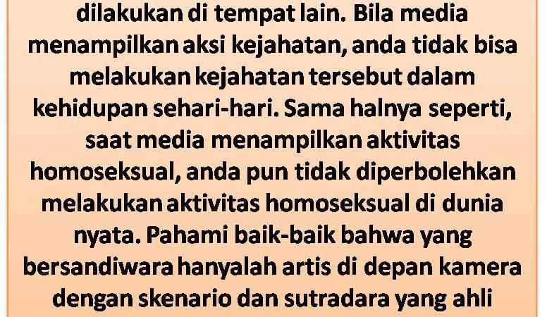Perbedaan Antara Islam, Homoseksual Dan Sandiwara Kejahatan