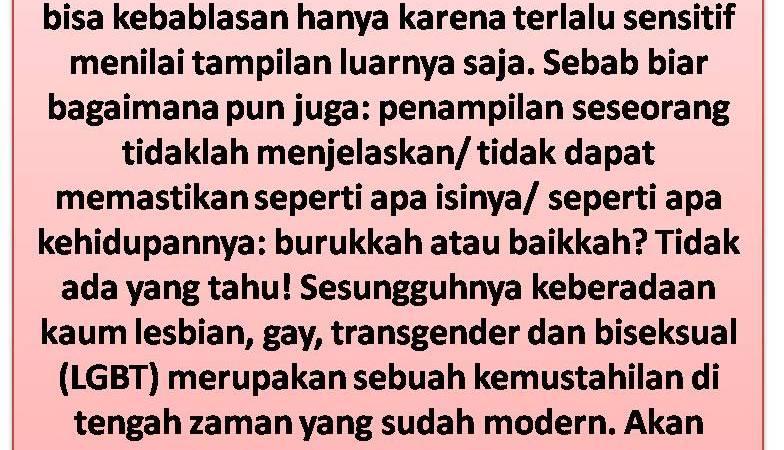 Dampak Buruk Trend Homoseksual Yang Menguji Manusia