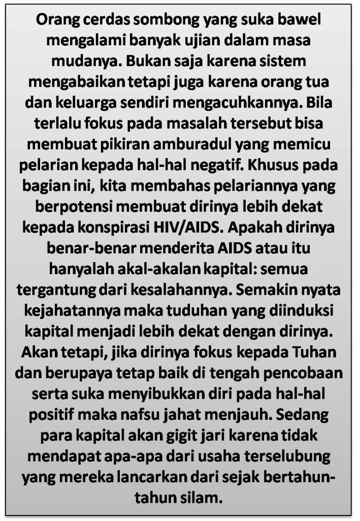 Skenario Penyakit HIV-AIDS Dan Konspirasi Kapital